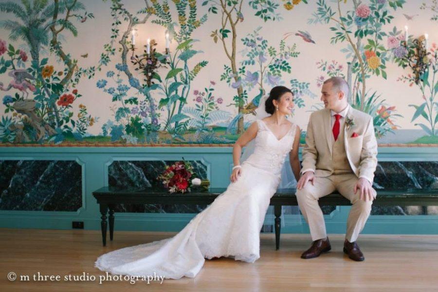 Bride and Groom at Villa Terrace Decorative Arts Museum