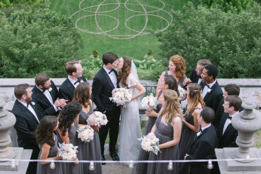 Wedding party at Villa Terrace Decorative Arts Museum