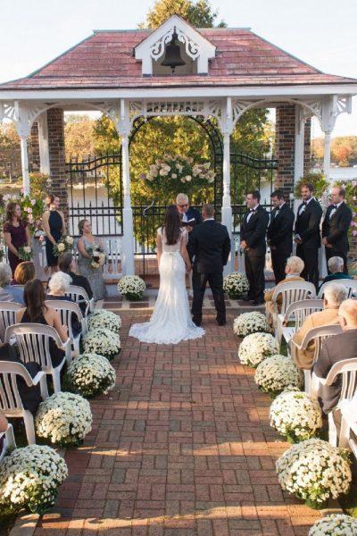wedding ceremony at Golden Mast's gazebo
