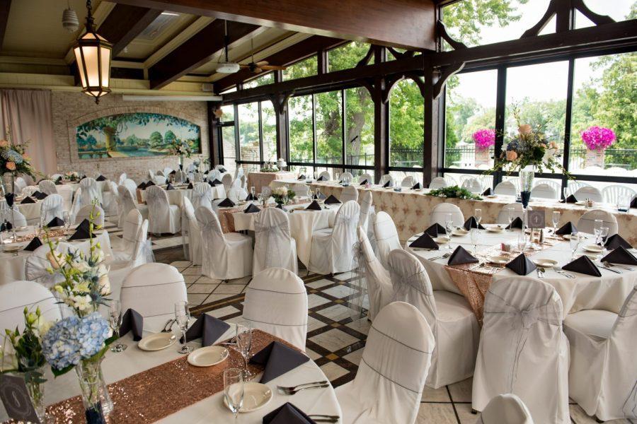 Elegant wedding receptions on Okauchee Lake