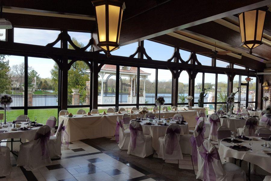 elegant wedding reception at Golden Mast