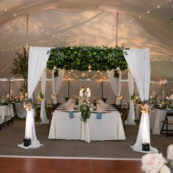Elegant wedding with rentals from All Star Rentals