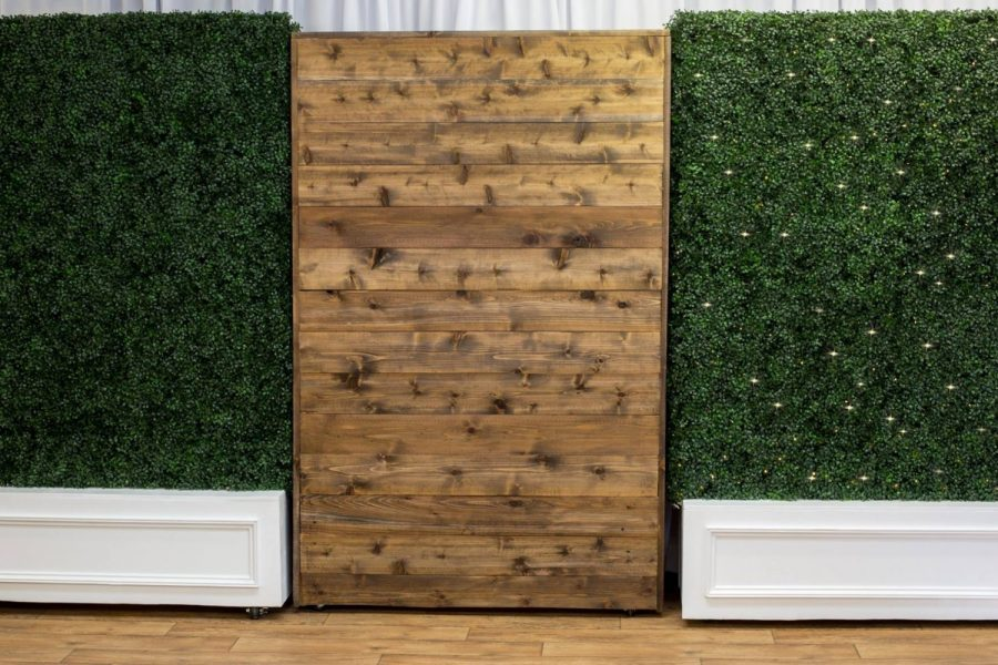 Rustic wooden backdrop from All Star Rentals