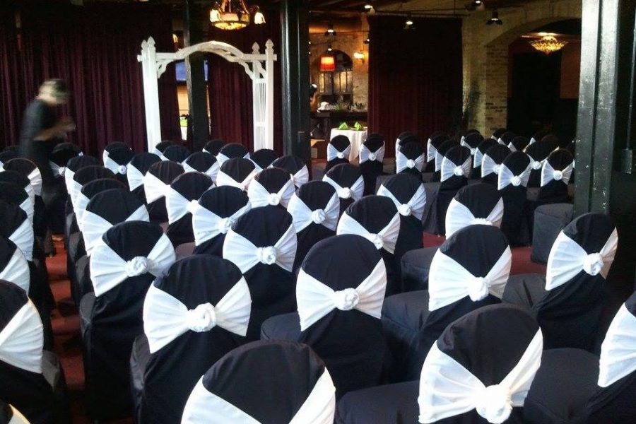 Elegant chair covers with ties from All Star Rentals