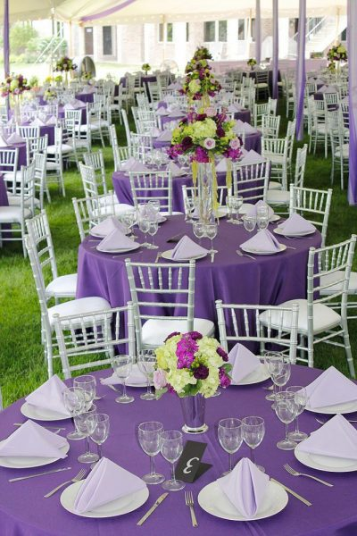 Wedding reception rentals from All Star Rentals