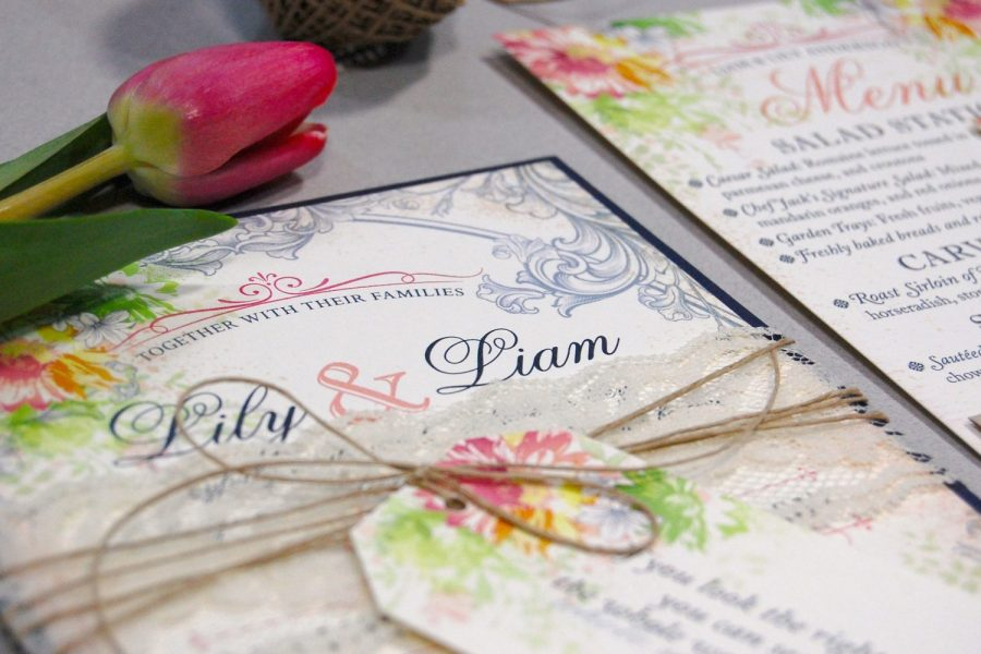 Wedding invitation created by Paperwhites