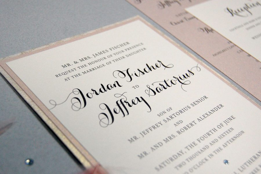 Classic wedding Invitation by Paperwhites