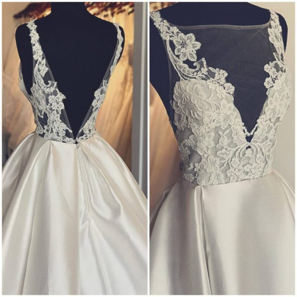 Front and back of Wedding gown at Bliss Bridal