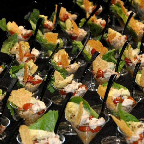 Martini Glass appetizers by All Occasion Catering
