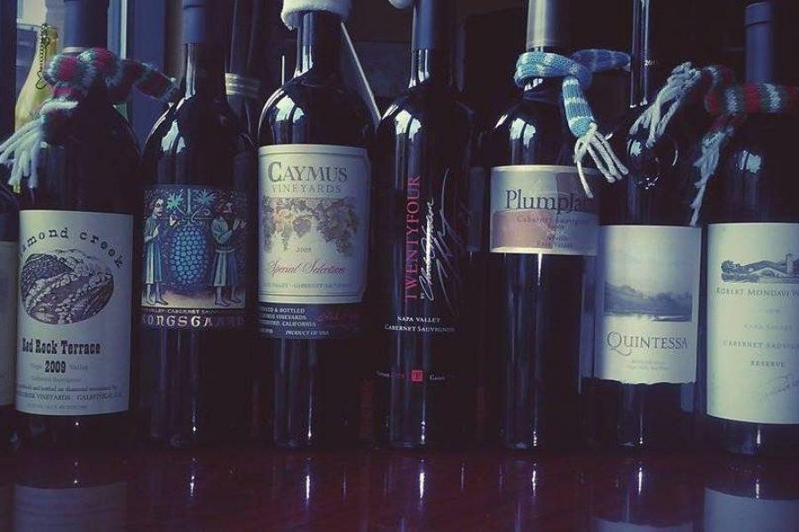 Wine selections at Vino Third Ward for Bridal Shower