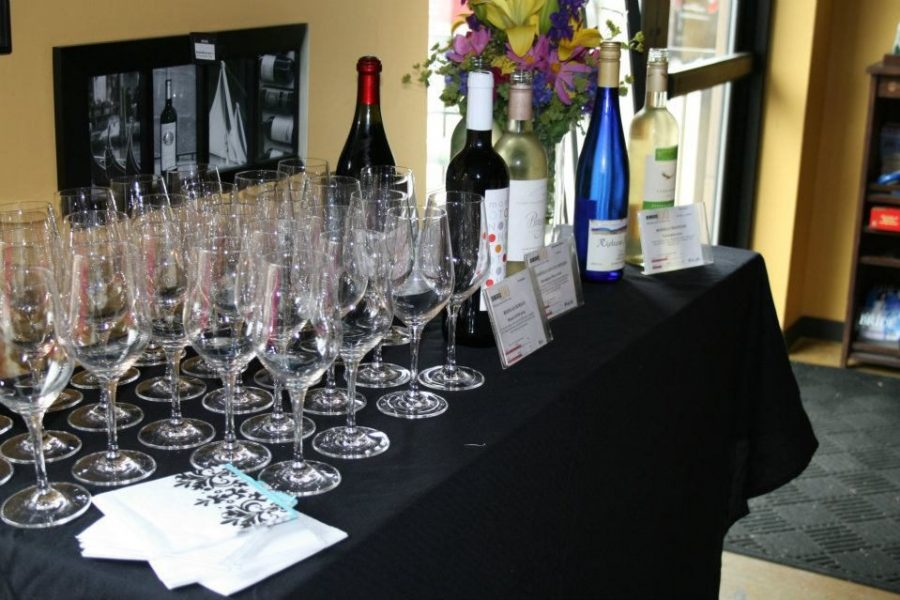 Prep area for Vino Third Ward Bridal Showers with Wine Tastings