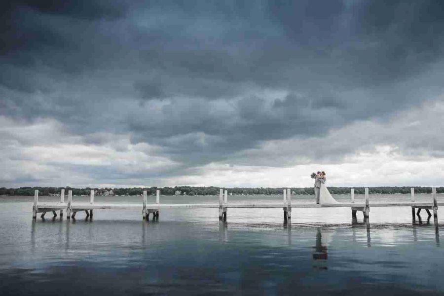 View of dock on lake at Lake lawn Resort