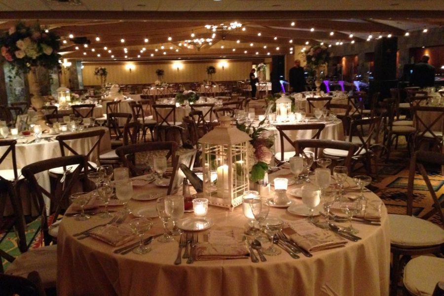 inside wedding reception fully decorated
