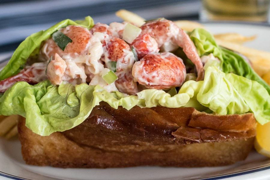 Lobster salad sandwich at the Harbor House
