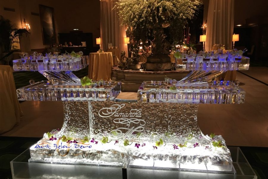 Bubbly Ice Seafood table by Art Below Zero