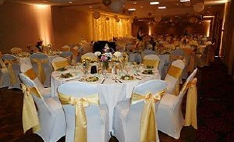 Wedding Reception with covered chairs