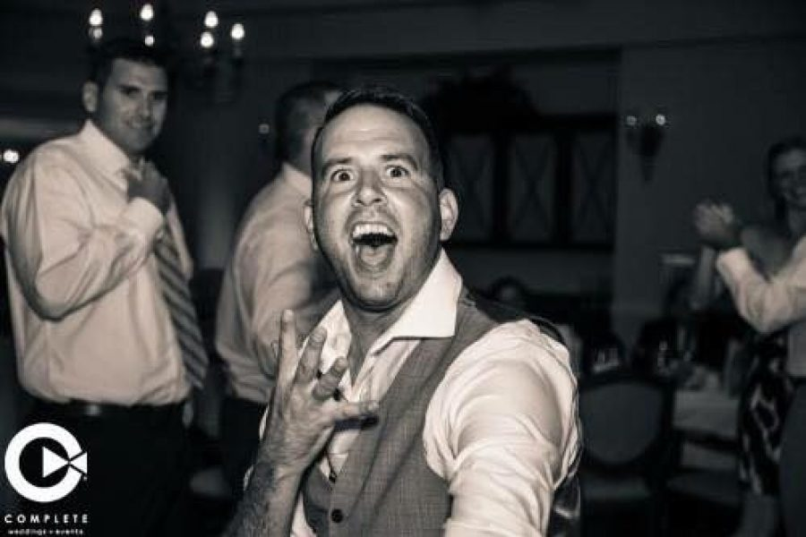 Wedding guests have great time dancing
