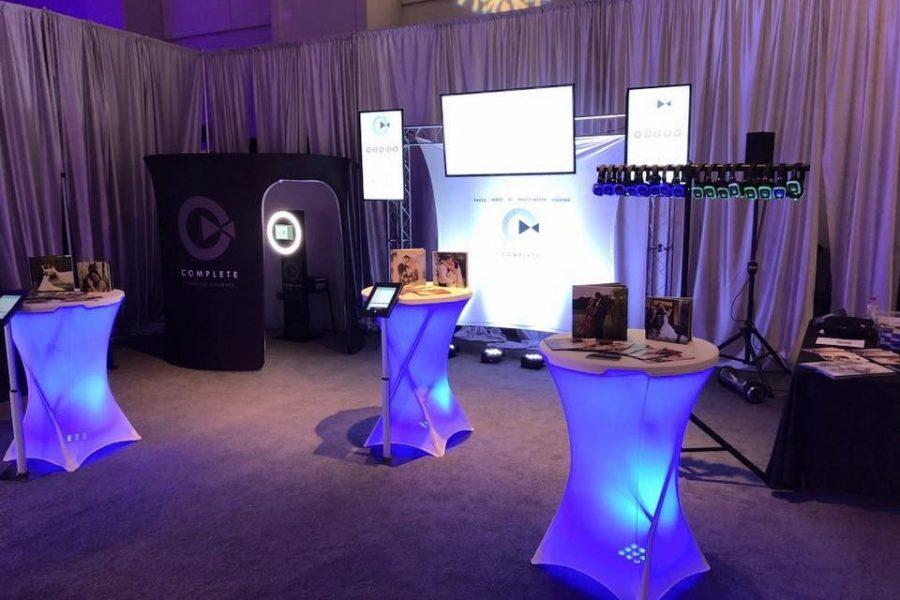 Booth set up at Bridal Show