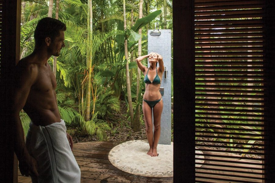 Private Outside shower for couples