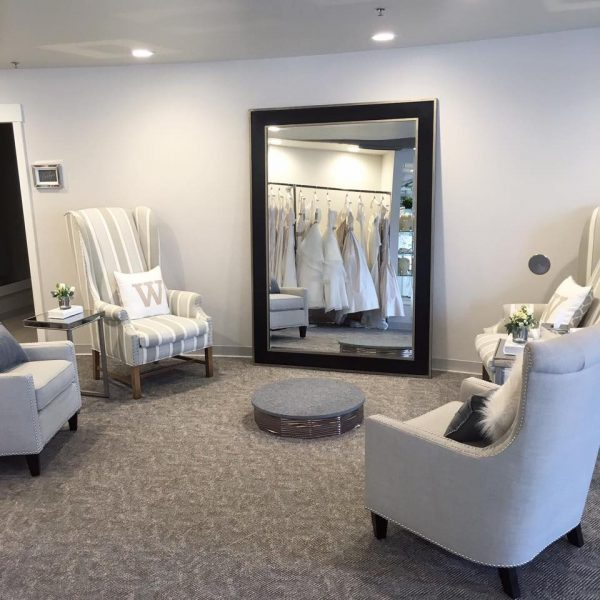 area where brides-to-be come out to see themselves on bridal Dresses they try on