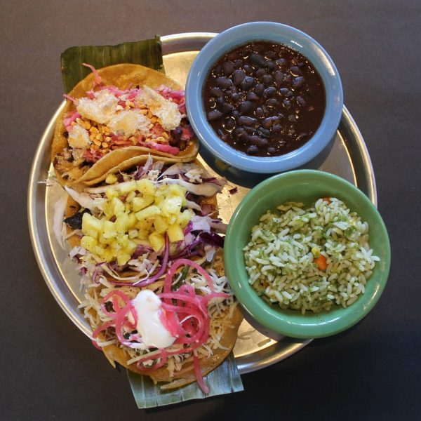 Great taco and beans option on mobile food truck