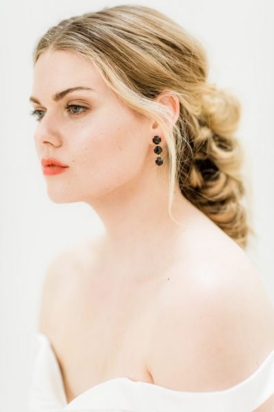 Bride image with professionally done hair and makeup