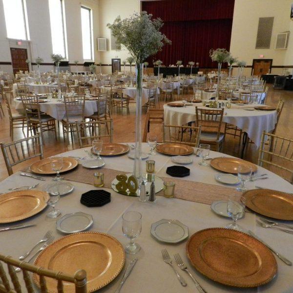 Table Setting of wedding reception