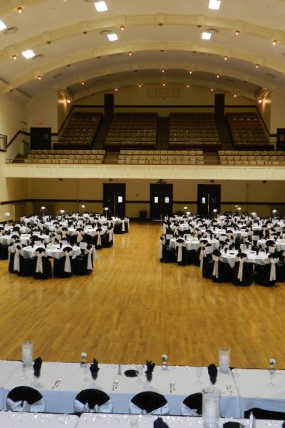Wedding Reception in Black and White accents