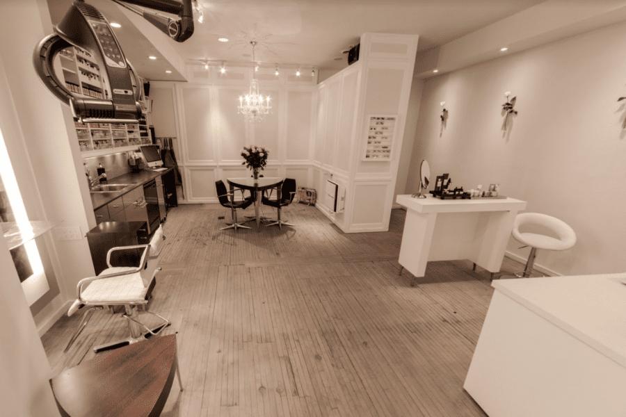 Interior work area at Halo Salon