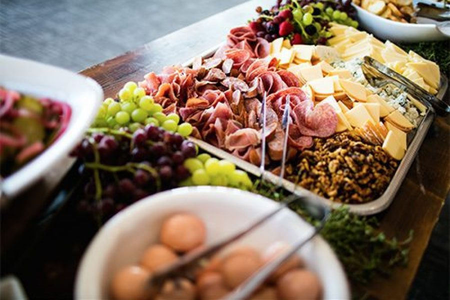 sample of catering dishes from Geneva Lakes Catering
