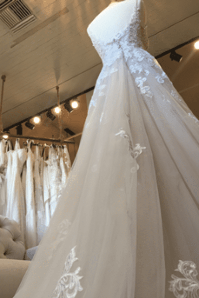 Interior of Evermore Bridal Showing some dresses