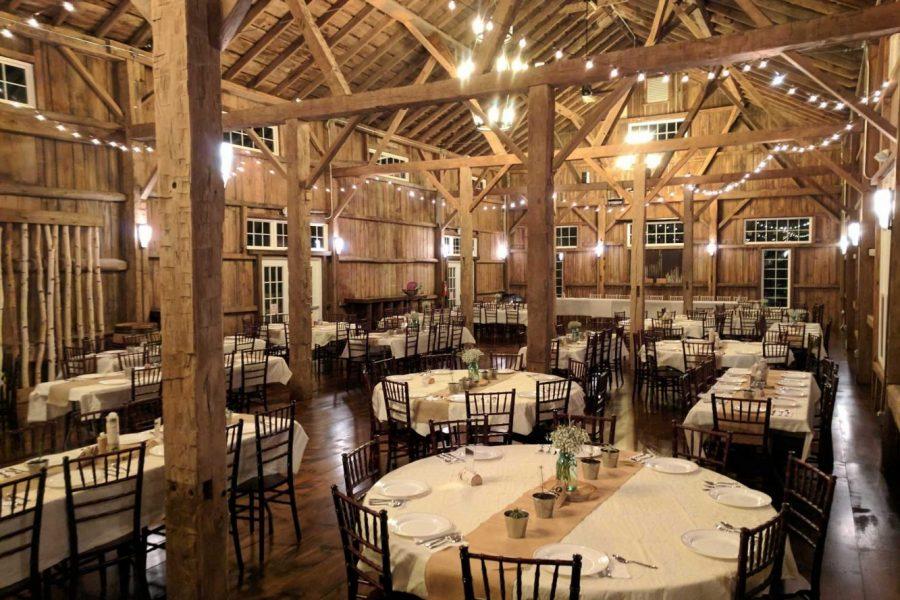 Elegant yet rustic interior of the Cupola Barn in Oconomowoc, WI