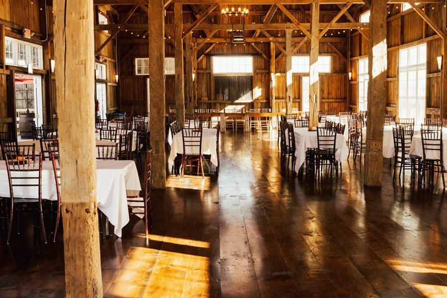 Refurbished barn wedding venue