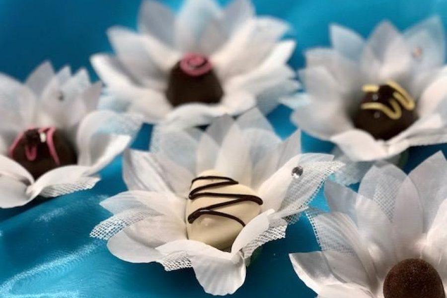 cream colored Hand made fabric truffle/chocolate/sweet holders