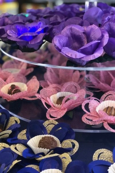 multiple Hand made fabric truffle/chocolate/sweet holders