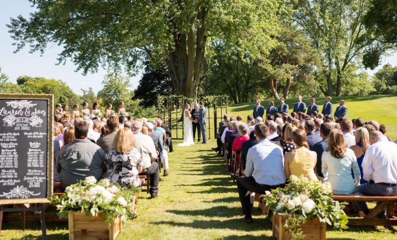 1896 Room outdoor wedding ceremony