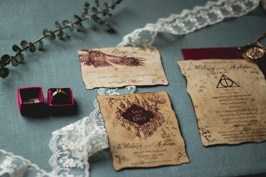Harry Potter themed custom wedding invitations by DCo Lovenotes