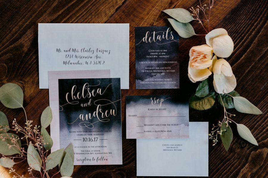 Custom made Wedding Invitations by DCo Lovenotes