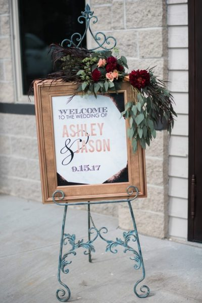 Handmade wedding sign