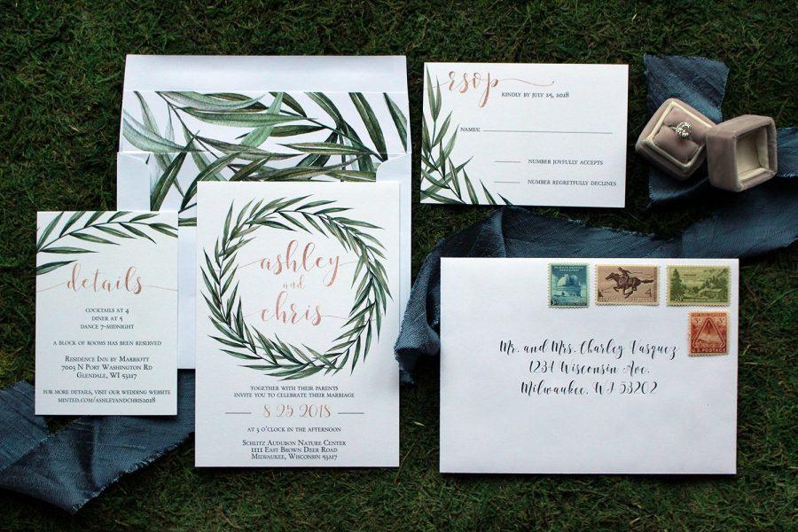 Unique wedding stationary