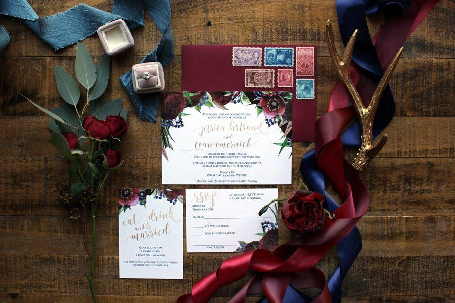Custom elegant wedding invitations Milwaukee