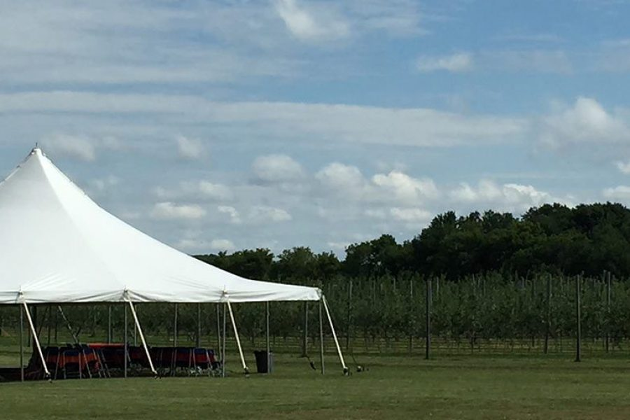 A tented affair at The Peck & Bushel Barn