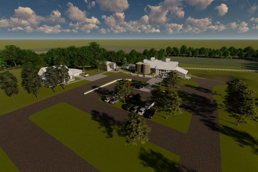 Artistic rendering of property from the air