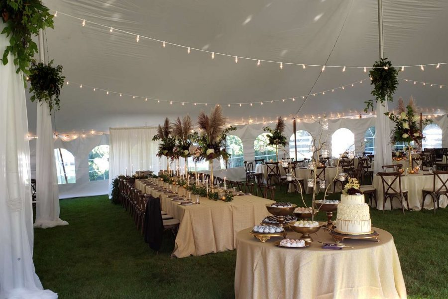 Elegant tented wedding- All Star Rentals