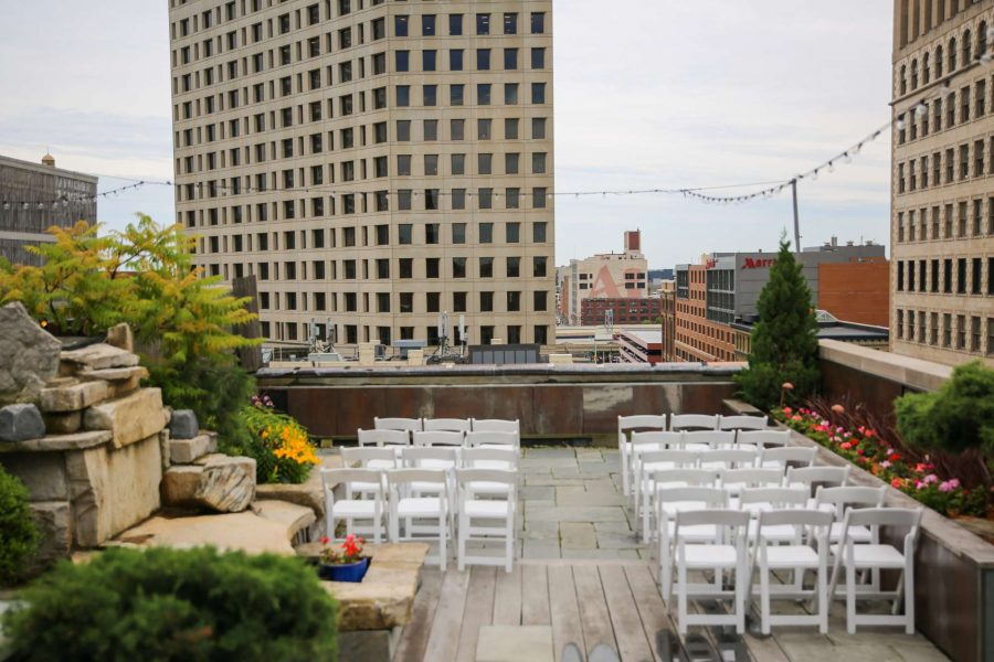 Rooftop Ceremony at the Hotel Metro in Milwaukee