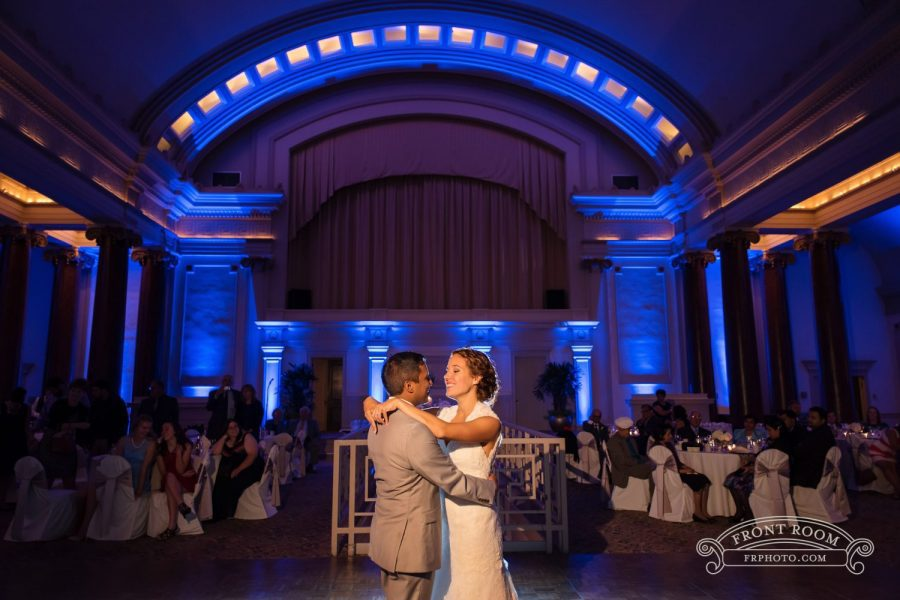 Bride and groom's first dance at 1451 Renaissance Place