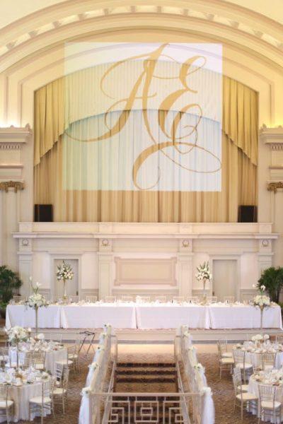 head table at 1451 Renaissance Place wedding reception