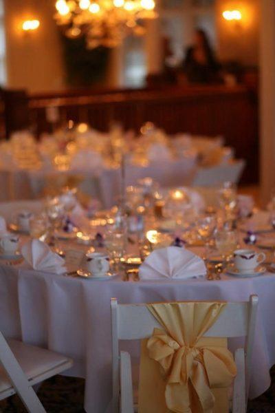 Romantic lighting at the Red Cirlce Inn wedding reception