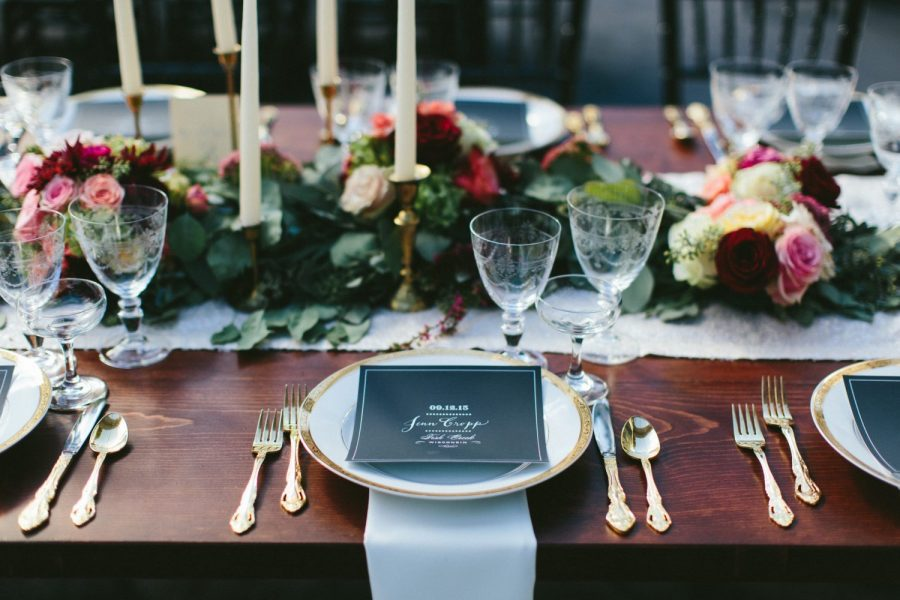 Elegant table-scape | China, flatware, and glassware by Well Dressed Tables