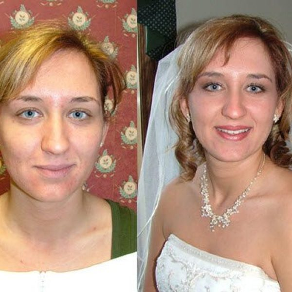 Before and After Wedding Makeup images